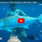 PESCA SUBACQUEA N.7-2019: RICCIOLA 38KG DELL' ARMELEIA, IL RACCONTO…